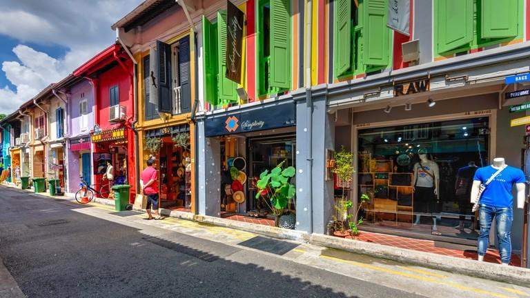 Haji Lane in Kampong Glam, Singapore.