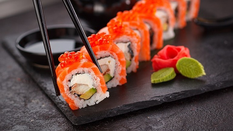 Sexy Fish serves sushi and seafood