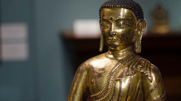 Tibetan Buddha at Vajrasana, 15th Century, Walter Arader Gallery