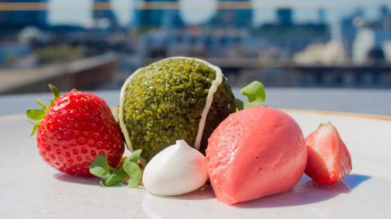Aviary Tennis Ball Dessert
