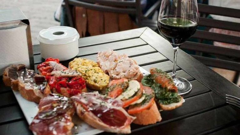 Wine and tapas at Vinoteca Barbechera