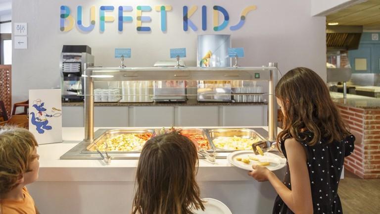 Kids' buffet at Carema Club Resort