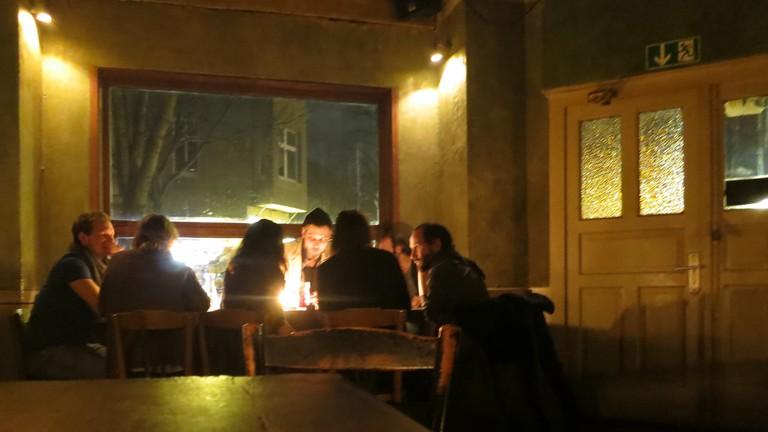 Friends enjoy a quiet night at Lugosi
