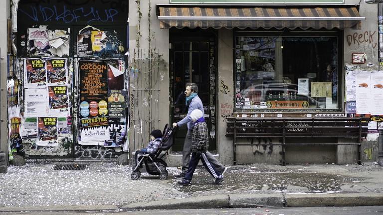 The uber-cool exterior of Franken Bar in Kreuzberg