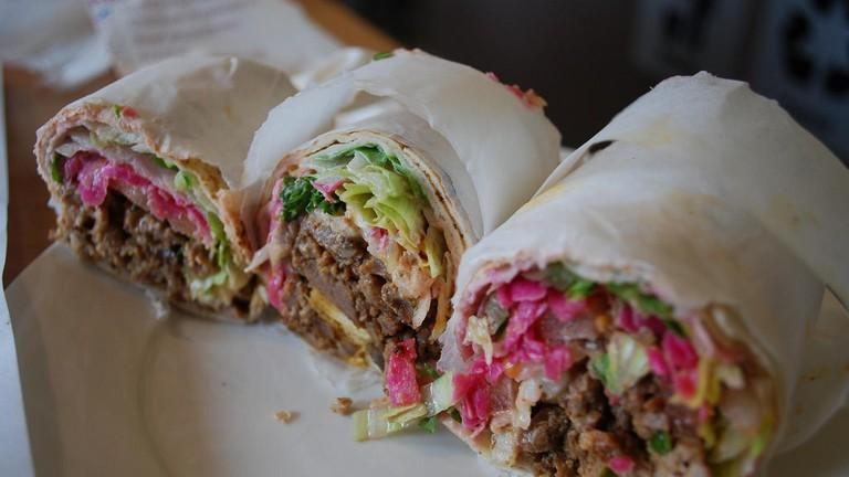 Lamb shawarma sandwich
