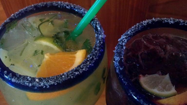 Margaritas, El Gato Negro, Mexican Food, Margarita