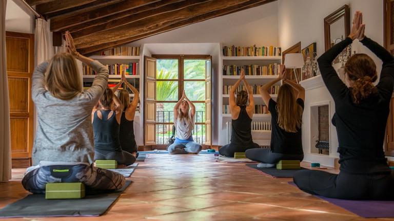Yoga sessions at Ananda Mallorca