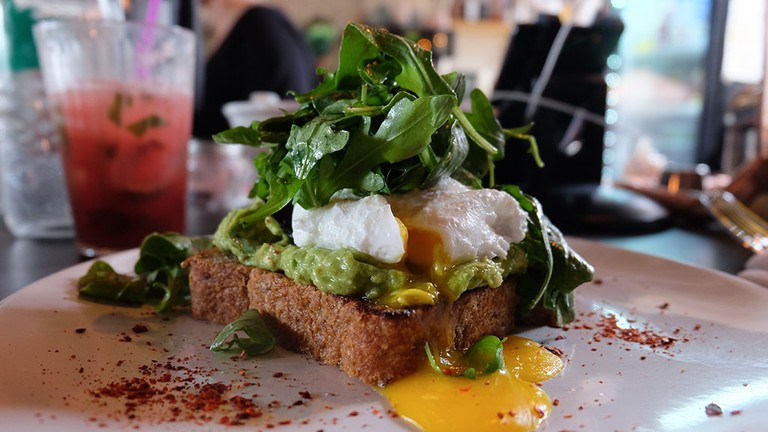 Avocado Toast at The Cliff in Jersey City, NJ.