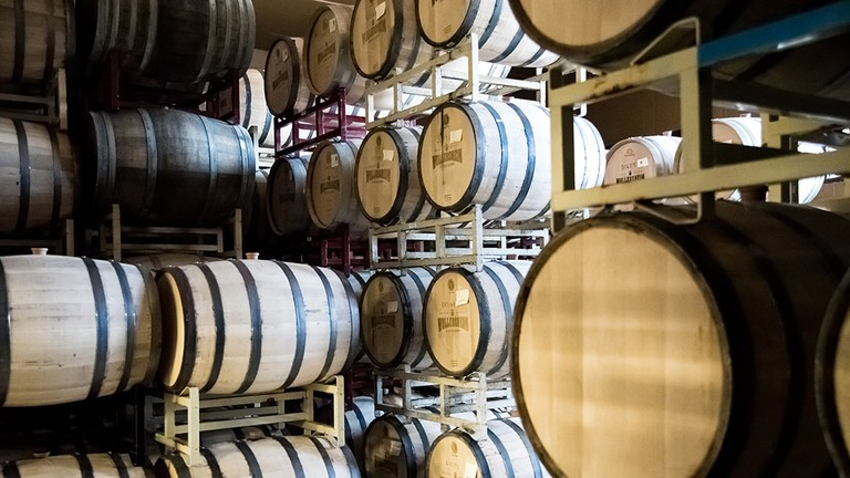 Wollersheim Distillery Barrel Room | © Courtesy of Wollersheim Distillery