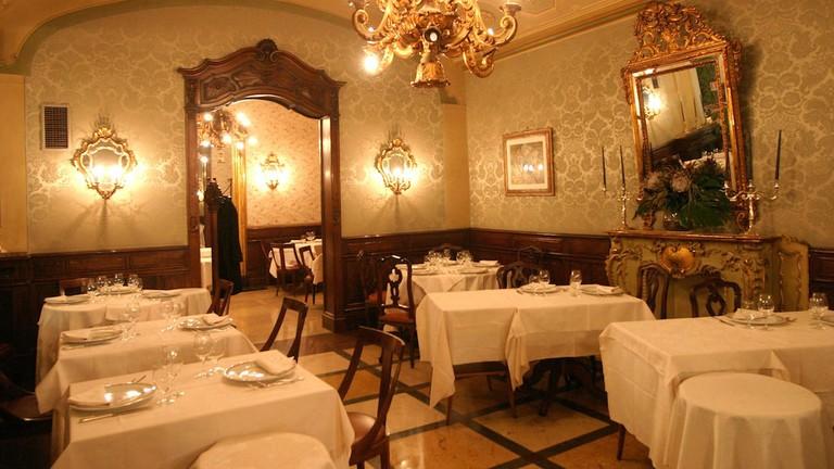 Antique Art Nouveau furniture and design at Caffé Torino in Turin   Courtesy Caffé Torino