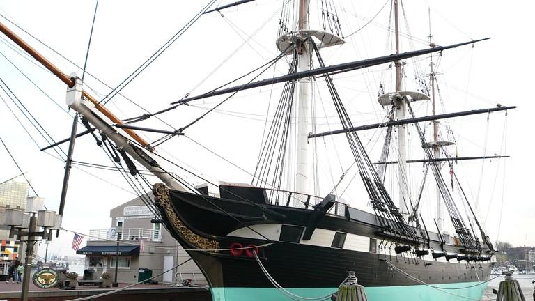 USS Constellation Bow, Inner Harbor, Baltimore, Maryland