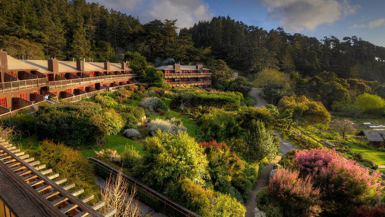The Stanford Inn sits in Mendocino.