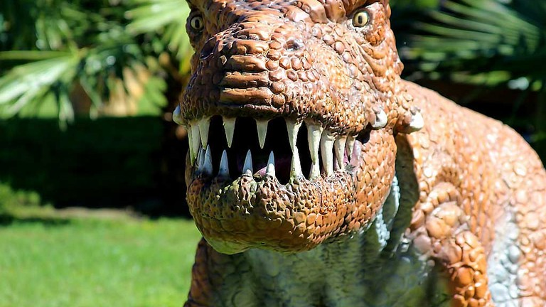 Dinosaur World in Plant City Near Tampa, Florida.