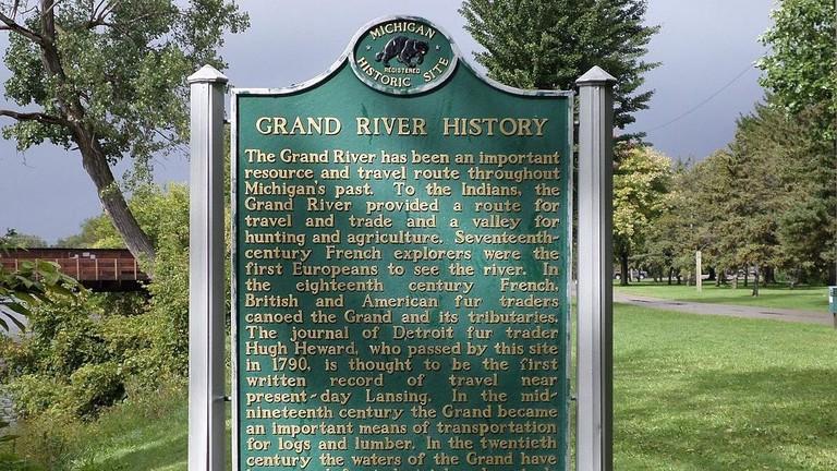 Grand River history in Adado Riverfront Park