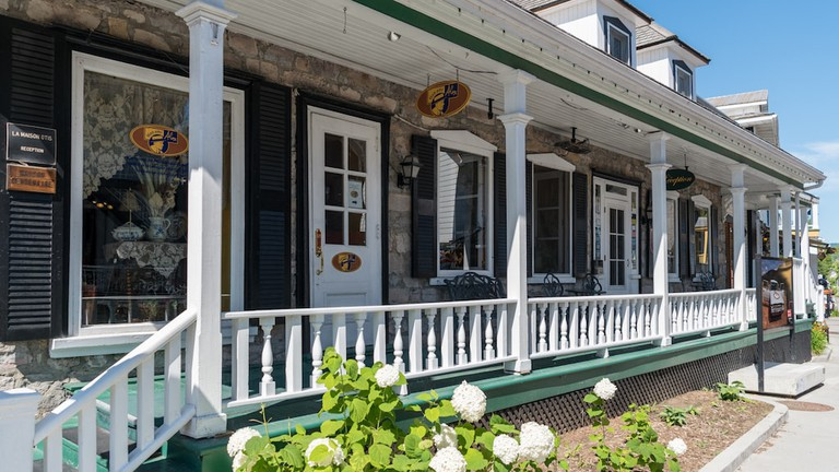 Historic Storefronts in Baie Saint Paul, Quebec |