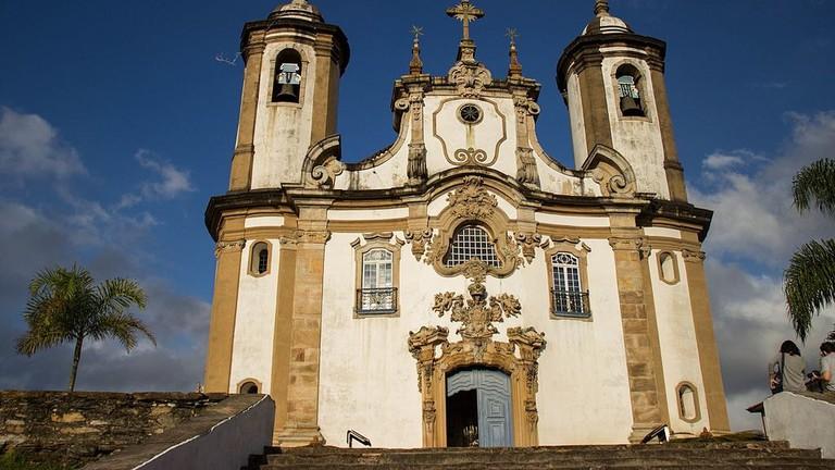 The Nossa Senhora do Carmo church in Ouro Preto