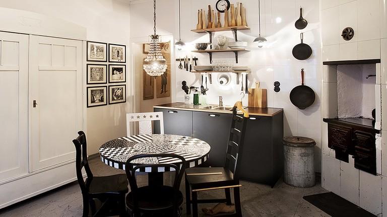 Airbnb apartment in Helsinki.