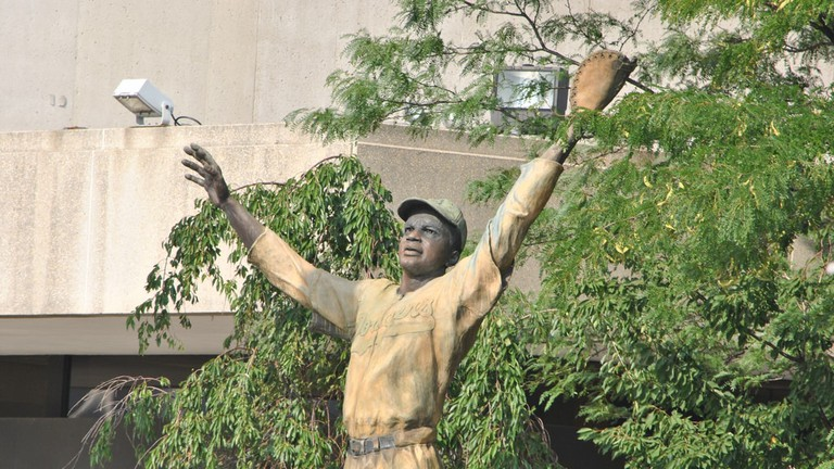 Jackie Robinson Statue in Jersey City