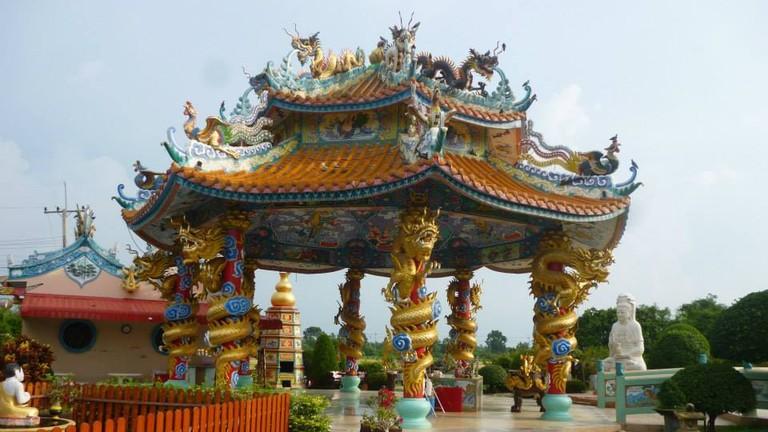 Colourful pavilion at Chao Mae Kuan-Im Park