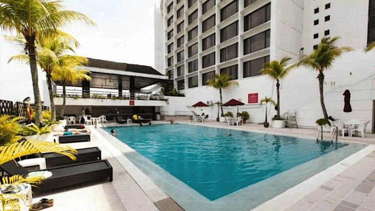 Pool area of Mutiara Johor Bahru