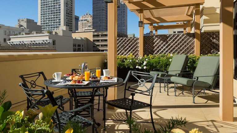The Terrace at the Orchard Garden Hotel in San Francisco.