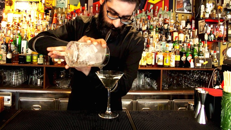 A Martini Master resident at Lacerba cocktail bar, Milan | Courtesy Lacerba