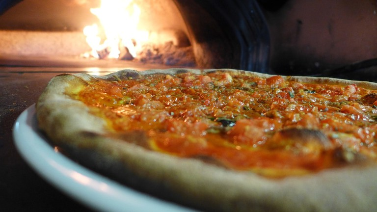 Delicious wood-oven pizza