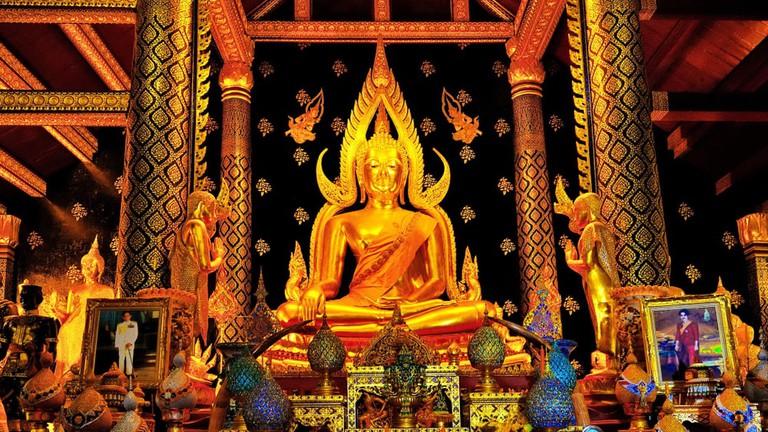 Phra Phuttha Chinnarat The Buddha of Wat Phra Si Rattana Mahathat Temple, Phitsanulok, Thailand