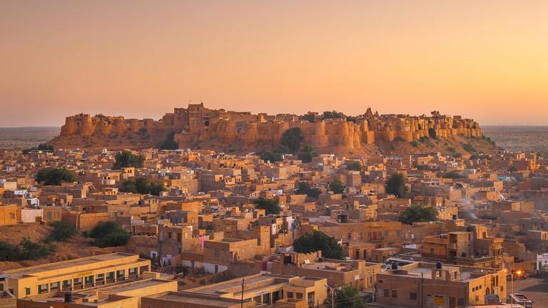 Jaisalmer Fort in sunset light, Rajasthan, India   © muzato/Shutterstock