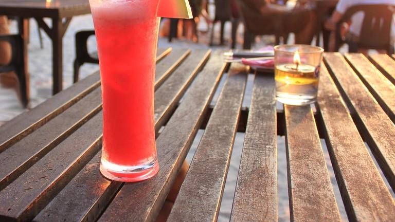 Fresh cold watermelon juice