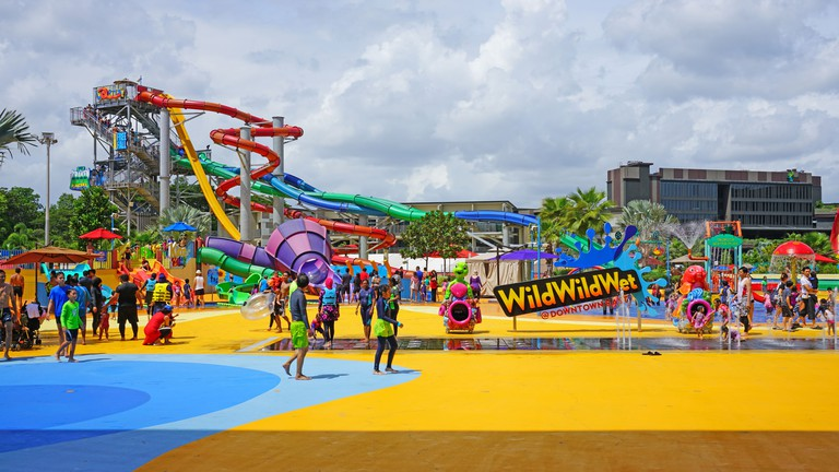 Wild Wild Wet, the largest water park in Singapore.