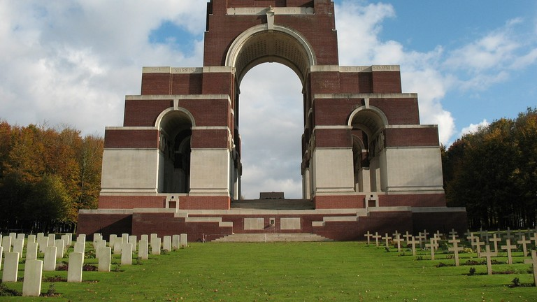 Thiepval WWI Memorial in France