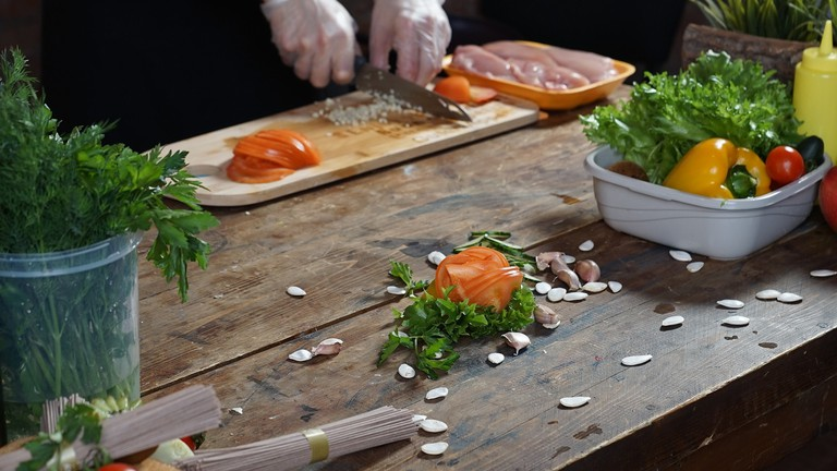 Creating food art