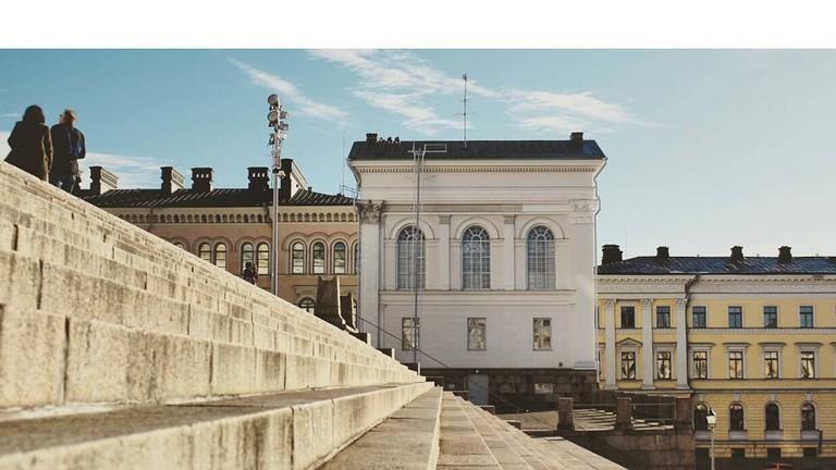 One of Helsinki's best Instagram spots, The Senate Square.
