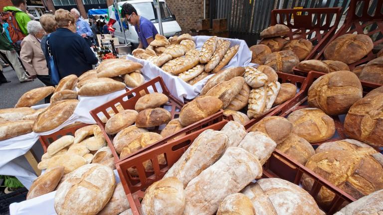 Bread for sale Clerkenwell, London