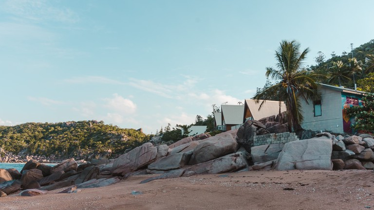 Beachfront bungalows at Base Backpackers on Magnetic Island