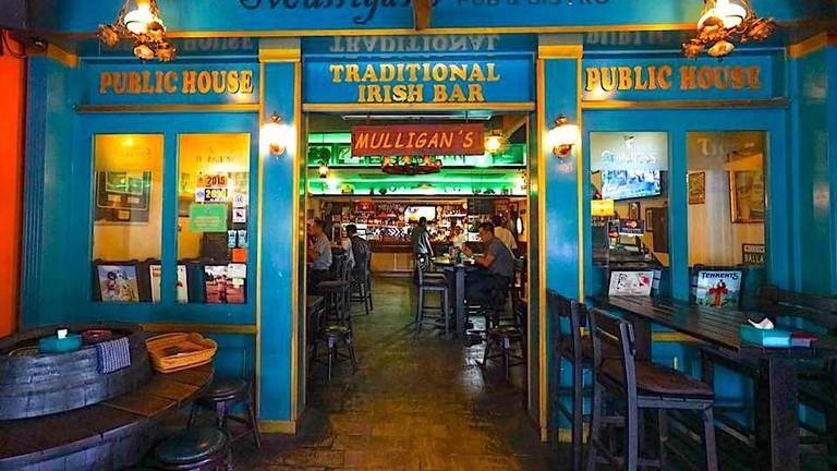 Interior of Mulligans Irish Pub
