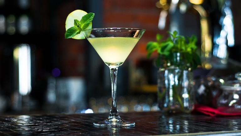 Daiquiri with lemon and mint