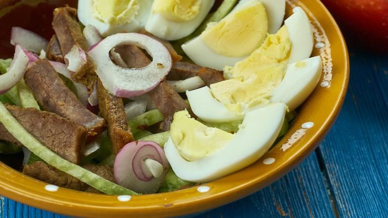 Uzbek beef salad Tashkent
