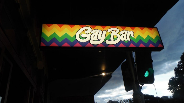 Sign for a gay bar © RubyGoes / Flickr