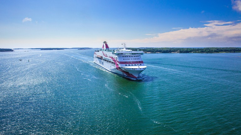 Silja Line ferry crossing the sea