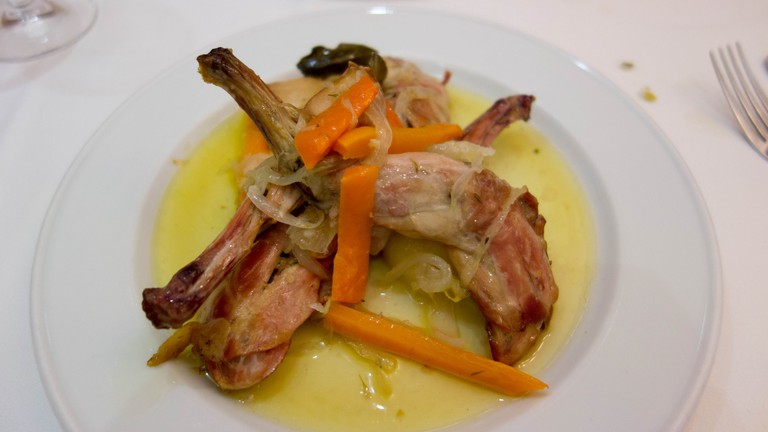 Rabbit dish at Ca L'Estevet © Kent Wang