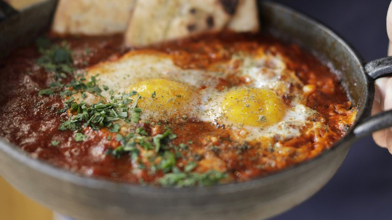 Shakshuka is one of the delicious brunch dishes on offer