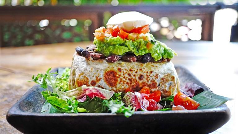 The burrito at KAFE, in Ubud, Bali.