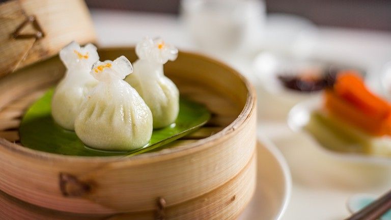 Yauatcha - Truffle edamame dumpling