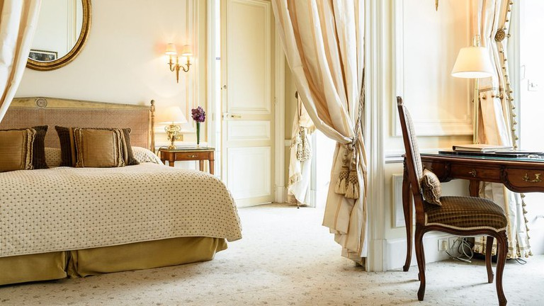 Guestroom at Hôtel du Palais
