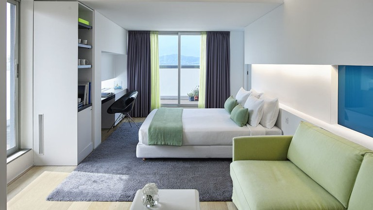 Guest room at the Fresh Hotel
