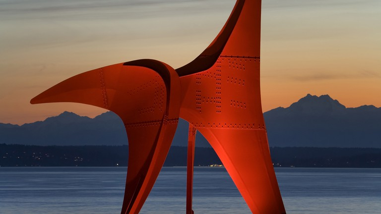 Alex Calder's 'Eagle' (1971) is the centrepiece of the Olympic Sculpture Park