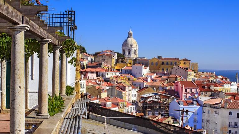 Martim Moniz district in Lisbon, Portugal