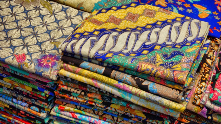 Batik in Klewer Traditional Market, Solo, Indonesia